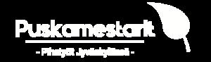 Puskamestarit-logo-valkoinen-slogan